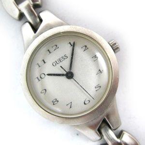 GUESS Womens Watch Chain Bracelet Silver Metal